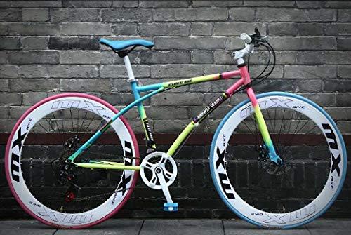 26-pulgadas carretera Bicicletas, Bicicletas de 24 velocidades, los hombres y de las mujeres, solo para adultos, Marco de acero de alto carbono, camino de la bicicleta de carreras, ruedas de bicicleta