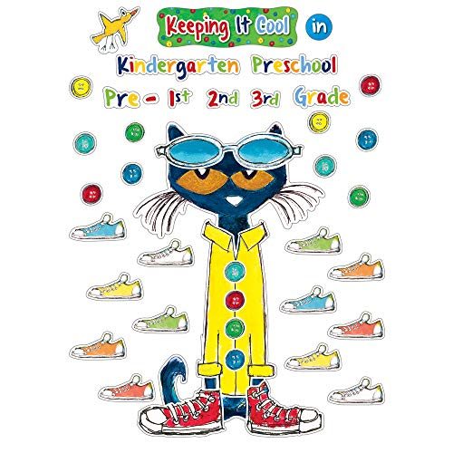 Edupress Pete the Cat Keeping it Cool In Bulletin Board Set (EP63922) (Welcome Back To School Library Bulletin Boards)