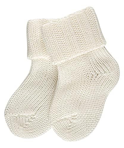 FALKE Unisex Baby Flausch B SO Socken, Blickdicht, Weiß (Off-White 2040), 62-68