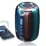 KAMYSEN Bocina Bluetooth Portátil,Altavoz Inalámbrico Bluetooth, Altavoz Bluetooth Portátil con Sonido Estéreo HD,12 Horas de Tiempo de Reproducción,Alcance de 10 m de Bluetooth,Bajo Rico,Sonido HIFI,Ideal para Picnics, Fiestas, Exteriores, Viajes