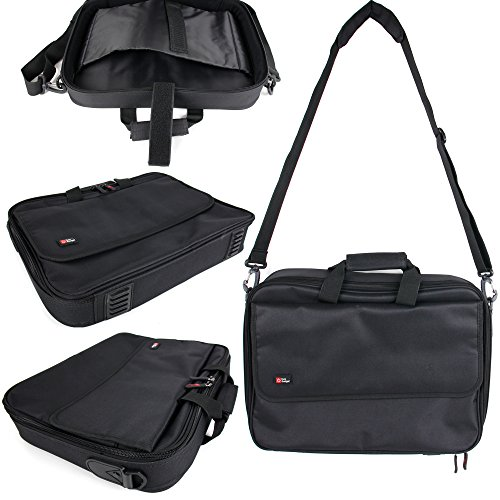 DURAGADGET Black Laptop Bag with Multiple Compartments - Compatible with The Medion Akoya P6631 & Schenker XMG P501 PRO Notebook
