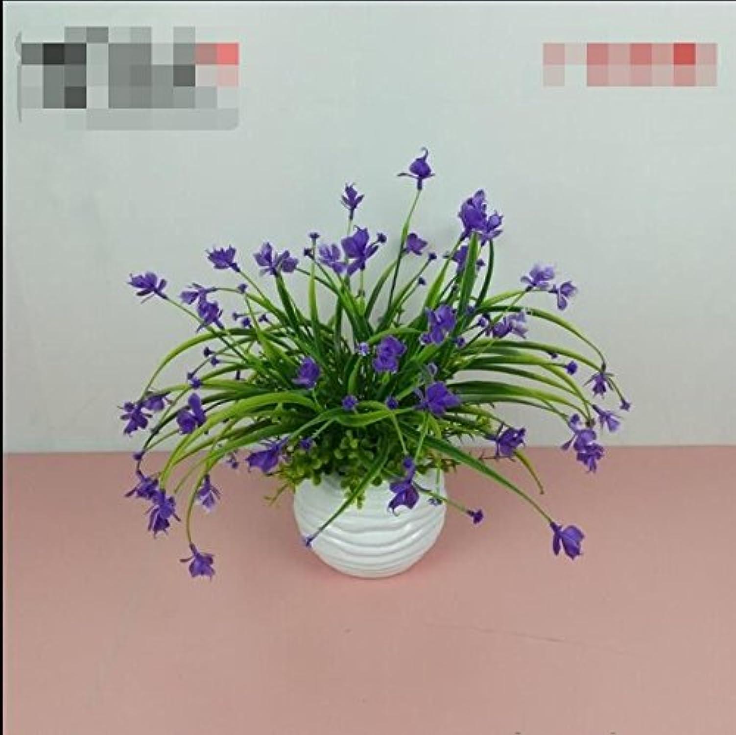 compra limitada LSRHT Phalaenopsis Macetas con Plantas Flores De De De Seda Flores Artificiales Salón Azul  a la venta