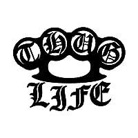 Thug Life カッティング ステッカー ブラック 黒