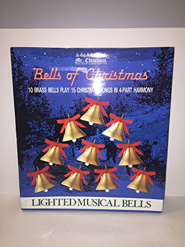 Mr. Cristmas 10 Lighted Brass Bells of Christmas