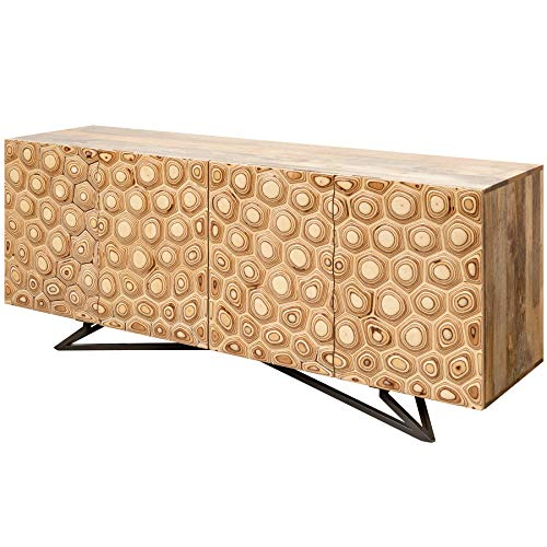 Invicta Interior Massives Sideboard Organic Living 175cm Mangoholz organisches Design Kommode Wohnzimmerschrank Anrichte