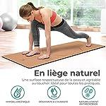 KAIZENLY Tapis Yoga Ecologique - Liège Naturel, Antidérapant, Epais - Tapis de Yoga en Liège avec Sangle de Transport - Tapis de Sport, Tapis Fitness, Tapis Pilates - Yoga Mat 183 x 61 x 0,5 cm #2