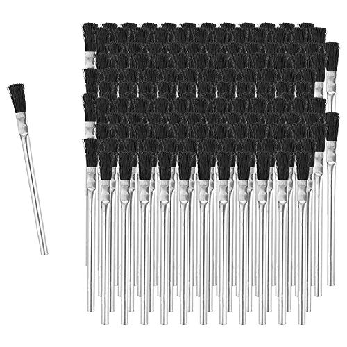 Fulton Acid Glue Applicator Brushes Made with Horse Hair Bristles | Tin Metal Tubular Ferrule...