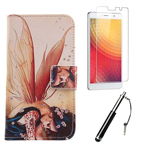 Lankashi Wing Girl Design PU Flip Leder Tasche Für Doogee Y6 Max 6.5