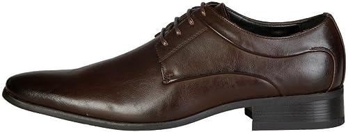 V 1969 - - MATHIS_marron Chaussures à Lacets Derby Homme  pas de minimum