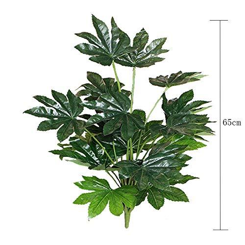 NHGFP Kk 65cm 16fork Pflanze Banch Großen Künstlichen Baum Blätter Kunststoff Grünpflanze Faux Palm Laub for Hauptdekor (Color : 65cm 16fork Fatsia)