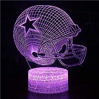 3Dイリュージョンナイトライト アメリカンフットボールヘルメット キッズ3Dイリュージョンランプキッズナイトライト7色変更スマートタッチおもちゃパーティー用品女の子の誕生日プレゼントのアイデア男の子