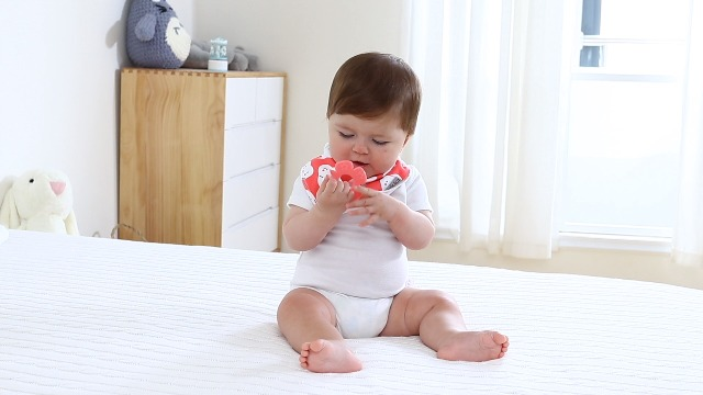 Baby Bandana Drool Bibs 6-Pack and Teething Toys 6-Pack Made with 100% Organic Cotton, Absorbent and Soft Unisex…