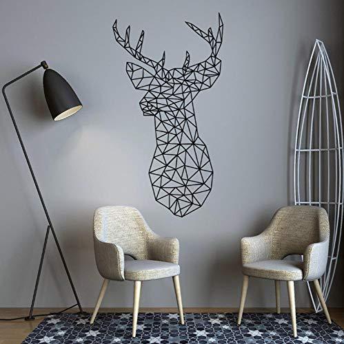 Muursticker huisdecoratie voor woonkamer muurstickers Vinyl Art muurstickers lijm Geometrische sika hert 43x79cm