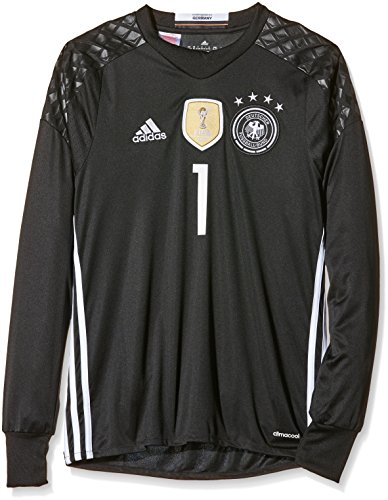 adidas Kinder Trikot DFB Goalkeeper Jersey Youth Neuer, Black, 176