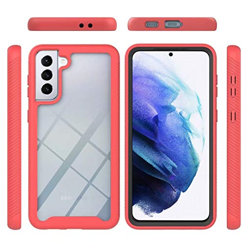Funda para Samsung Galaxy A32 5G, 360 grados, carcasa híbrida transparente, de ajuste delgado, carcasa rígida + TPU suave, resistente a golpes, antiarañazos, para Samsung Galaxy A32 5G, color rojo