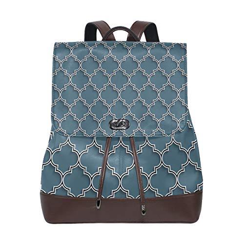 FANTAZIO Mochilas 3D Islámica estilo Marruecos mochila escolar de cuero