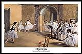 1art1 Edgar Degas Poster und Kunststoff-Rahmen -