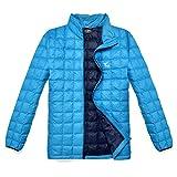 TAK Herren Daunenjacken Leicht Down Jacket Aqua blau Königsblau-02 L