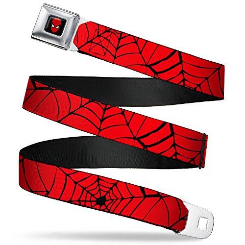 Buckle-Down - Ceinture de sécurité unisexe Marvel Comics Spider-Man - Couleur - Rouge/noir - Taille L