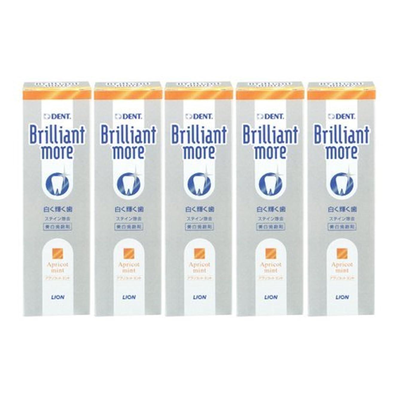 グループ規制太平洋諸島ライオン ブリリアントモア アプリコットミント 美白歯磨剤 LION Brilliant more 5本セット