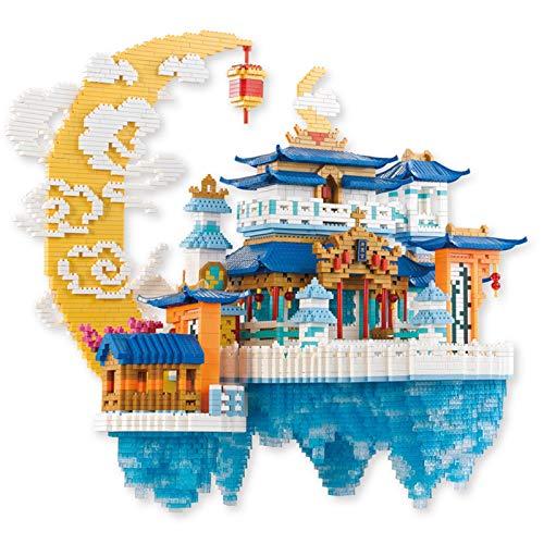 BAIDEFENG Moon Palace Kit De Construcción Grandes Modelos De Construcción 8000 Piezas Nano Bloques Mini Construcción De Bricolaje 3D Rompecabezas Mini Ladrillos Juguetes para Niños