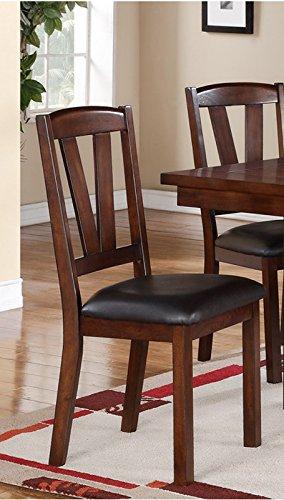 Poundex 2 Piece Counter Height Dining Chair, Dark Walnut Finish, Multi