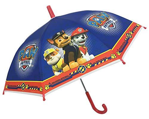 Chanos Paw Patrol Safety Runner Poe Embossed Folding Umbrella, 38 cm, Bright Blue Parapluie Pliant, Bleu (Bright Blue)