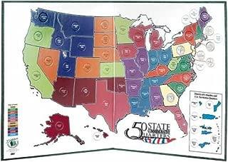 Best 50 state quarter display map folder Reviews