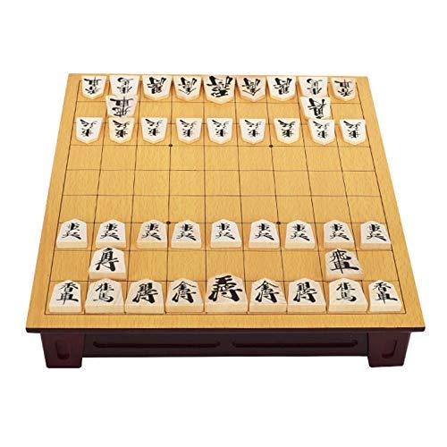 Pevfeciy Shogi - Traditionelle Spiele - Japanisches Schachspiel Set - Holzbrett Mit Schubladen Und 42 Spielstücken - Japan Geschenk - Reiseschach-Setjapan Geschenk,Basswood,270x250x50mm