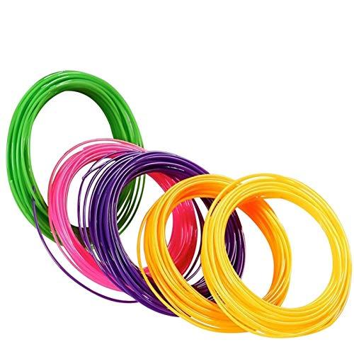 QINGRUI Materiales de Impresora Lápiz 3D Colorido 1.75mm Pluma 3D Filamento Relabates con 50 MTRS 10 Colores 5M / Pack 60-90 Grado C Temp Fácil de Dar Forma (Color : PCL 50m radom Color)
