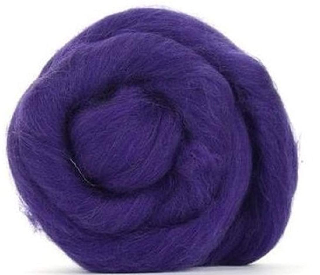 4 oz Paradise Fibers 64 Count Dyed Amethyst (Purple) Merino Top Spinning Fiber Luxuriously Soft Wool Top Roving for Spinning with Spindle or Wheel, Felting, Blending and Weaving