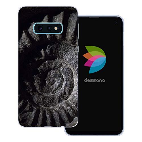 dessana Fossil transparente Schutzhülle Handy Case Cover Tasche für Samsung Galaxy S10e Versteinerung