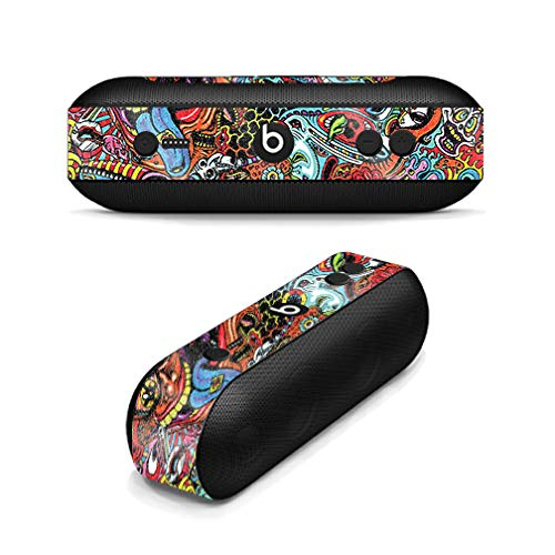 MightySkins Glossy Glitter Skin for Beats Pill Plus - Acid Trippy   Protective, Durable High-Gloss Glitter Finish   Easy to Apply, Remove, and Change Styles   Made in The USA