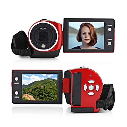 Cámara de video digital Videocámara Full HD 1080P 30FPS, grabadora de cámara de vlogging de 16 MP, pantalla IPS de 2.7 pulgadas, videocámaras con zoom de 16X, sería ideal para sus padres e hijos.