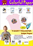 Colorful T Shirt Transfer Photo Paper Print At Home through Home Iron only