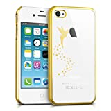 kwmobile Funda Compatible con Apple iPhone 4 / 4S - Carcasa de TPU Hada en Dorado/Transparente