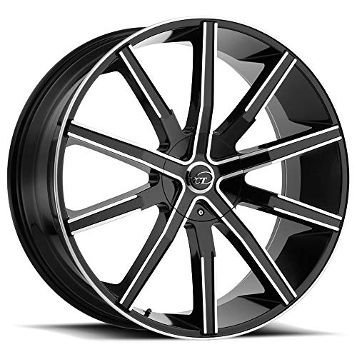 """VCT V80 Сustom Wheel - Machined Black with Machined Face 22"""" x 9"""", 15 Offset, 5x114.3 Bolt Pattern, 73.1mm Hub"""