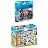 Playmobil - Pompiers Secouristes - 70081 + Hôpital Aménagé - 70190