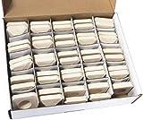 Hongso CRCB48 Ceramic Briquettes Replacement for Lynx L27 Gas Grill, 48-Piece per Box