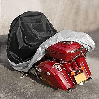 XL Black & Silver Motorcycle Cover For Honda Shadow Spirit 750 Aero RS Phantom Sabre
