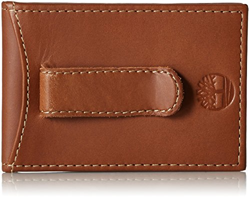 Timberland Men's Minimalist Front Pocket Slim Money Clip Wallet, Light Brown, One Size