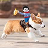 Proumy Costume Cosplay per Animali Domestici,Piccolo Cane Domestico del Gatto dei Vestiti della Maglia Maglietta (Marrone,S)