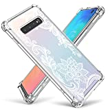 Cutebe Case for Galaxy S10,Shockproof Series Hard PC+ TPU Bumper Protective Cover for Samsung Galaxy S10 6.1 Inch 2019 Release Crystal (White)