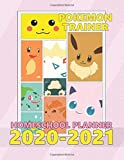 Pokemon Trainer HomeSchool Planner: Anime HomeSchool, Large Print, Pictures And Quotes, Pokemon Characters, Pikachu, Charmander, Bulbasaur, Jigglypuff, Eevee, Anime Series, This Will Be My Year