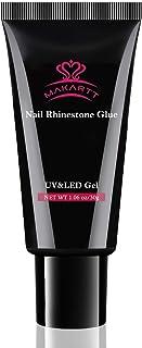 Makartt Nail Art Rhinestone Glue Gel 30g Super Adhesive Nail Gel for Gems, Nail Art Gel Glue for Rhinestones Crystal Stones Jewels P-96