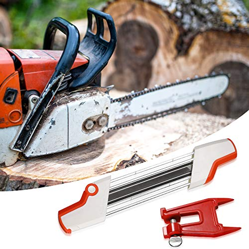 Outus 2 N 1 Easy File Chainsaw Chain Sharpener 3/8 Inch, Chainsaw Sharpening Vise, Chainsaw Accessories Stump Vise Portable Chainsaw Sharpening Kit