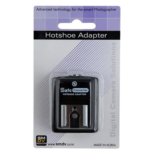 SMDV Hot Shoe Hotshoe Safe Sync Adapter SM-512 for Canon EOS Digital Rebel t1i, t2i, t3, T3i, T4, T4i, xt, xti, xs, xsi 300d, 350d, 400d, 450d, 500d, 550d, 1000d, 1100d, 600d, 10D, 20D, 30D, 40D, 50D, 60D, 5D, 5D Mark II, IV, 7D, 1D, 1Ds, Mark II, III, IV, and Canon Powershot G11, G12, G1X