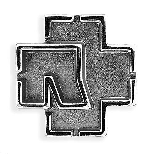 Rammstein Anstecker Pin Logo metallic, Offizielles Band Merchandise Fan