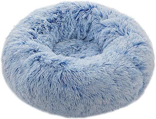Donut Dog Bed, Dog Cuddler Bed(27inch), Self-Warming and Washable Dog Bed for Medium or Large Dog (27-inch, Blue)