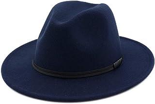 SHENTIANWEI Women Men Wool Fedora Hat Gentleman Elegant Lady Winter Autumn Wide Brim Jazz Church Panama Sombrero Cap
